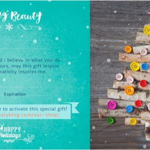 gift certificate for $50 worth of seeing beauty online courses or books