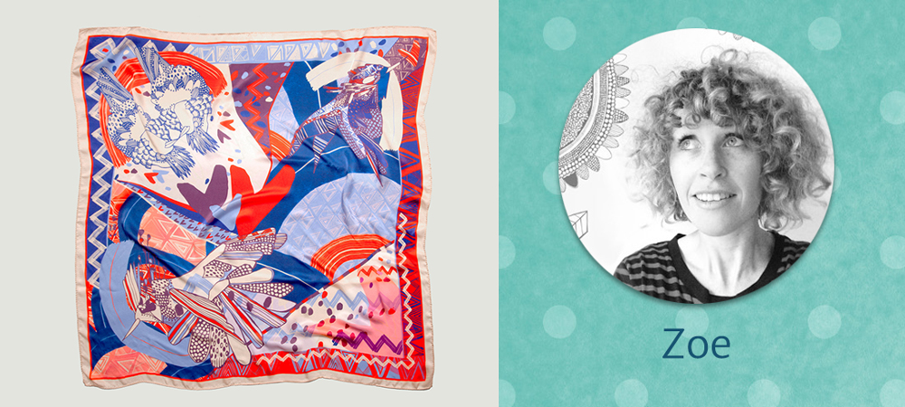 zoe keogh designs scarf for women in business gift guide | seeing beauty